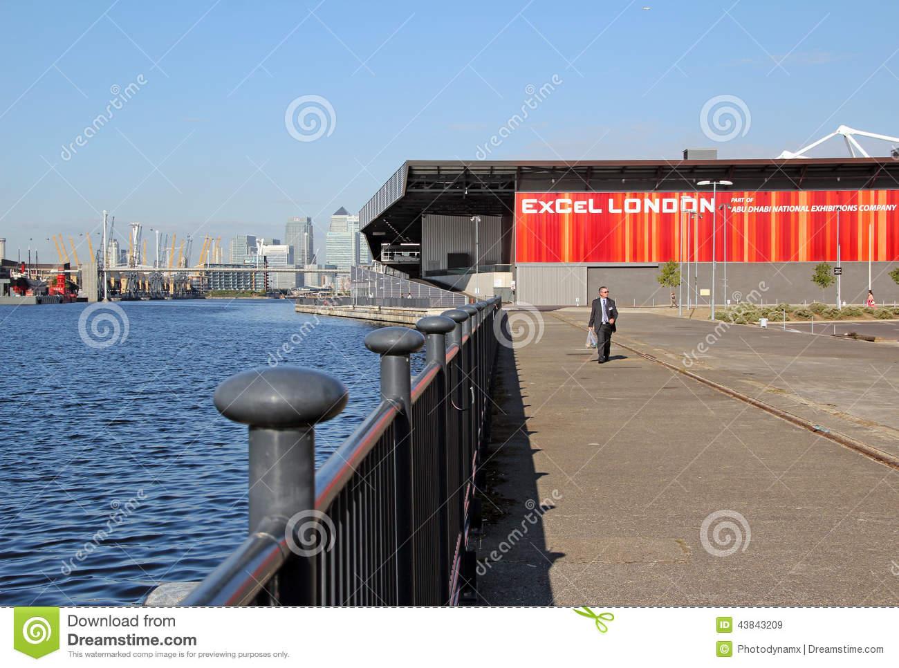 Excel London Building Docklands Editorial Stock Image.