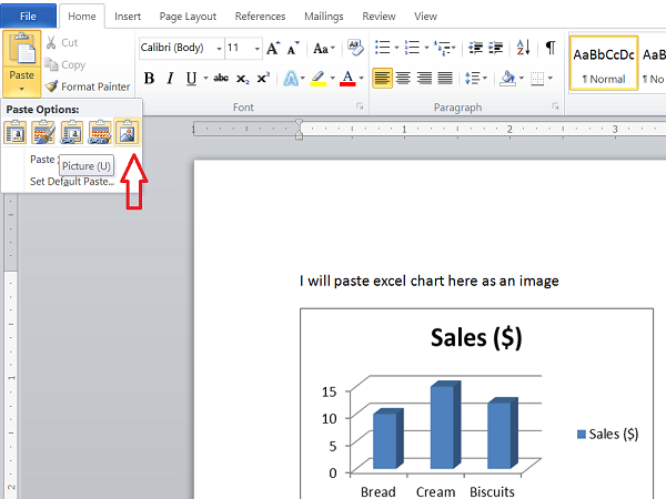How to easily export Excel Charts as Images.