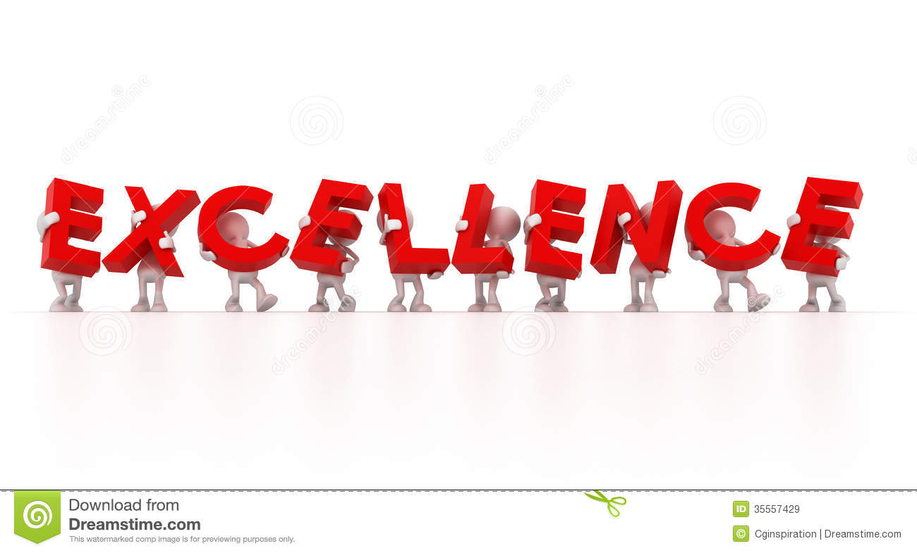 Striving For Excellence Clipart.