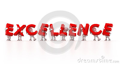 Team Holding Excellence Word Royalty Free Stock Images.