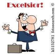 Excelsior Clip Art Vector Graphics. 5 excelsior EPS clipart vector.