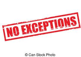Exceptions Clip Art.