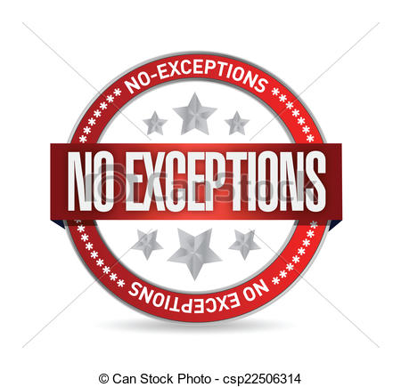 Exception Clipart.