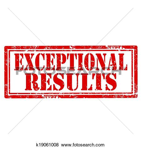 Clip Art of Exceptional Results.