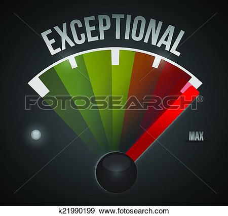 Clip Art of exceptional meter illustration design k21990199.