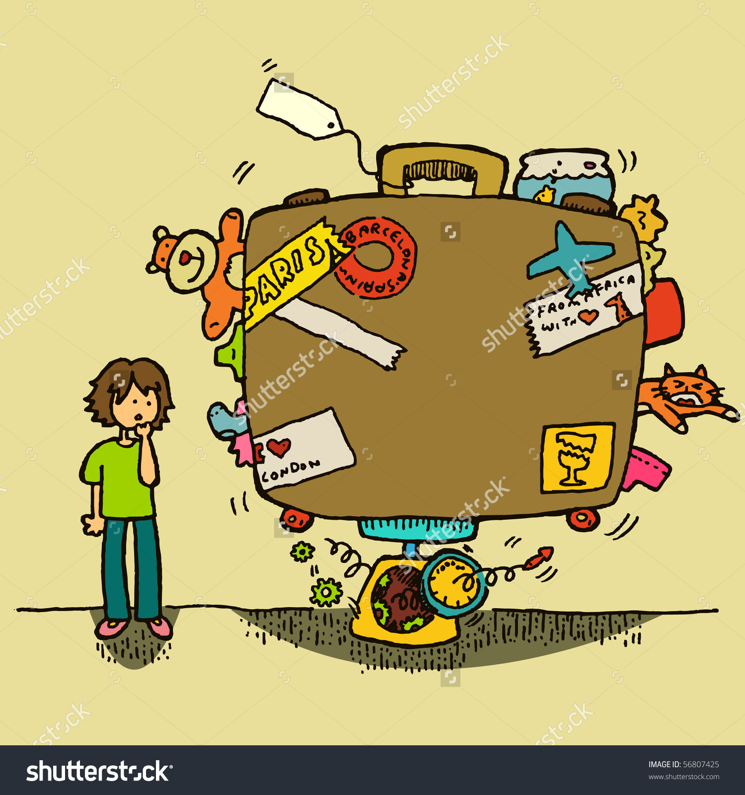 Excess Baggage Stock Vector 56807425.