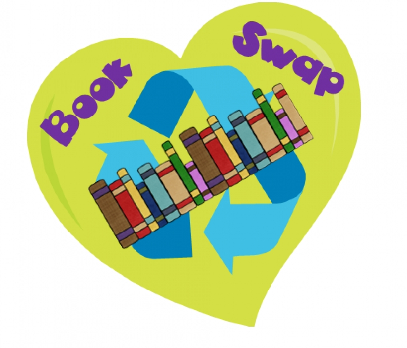 Book exchange clip art.