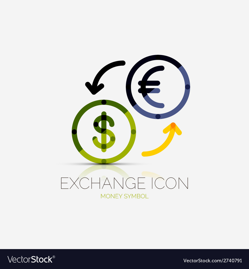 Currency exchange company logo business concept.