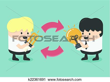 Clipart of exchange Ideas k22361691.