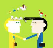 Teamwrok 3a Exchange Ideas Stock Illustrations, Vectors, & Clipart.