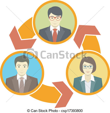 Vector Clipart of Business Collaboration Concept.