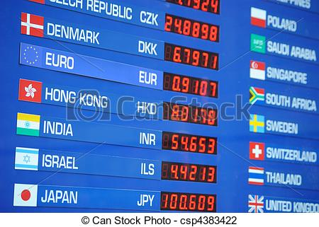 Stock Photo of Money Exchange Rate.