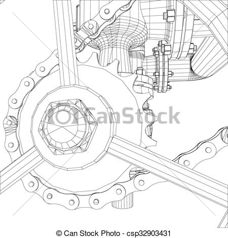 Vectors of Picture of heat exchanger.