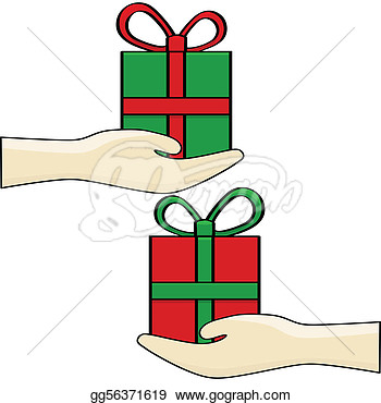 Christmas gift exchange clipart.