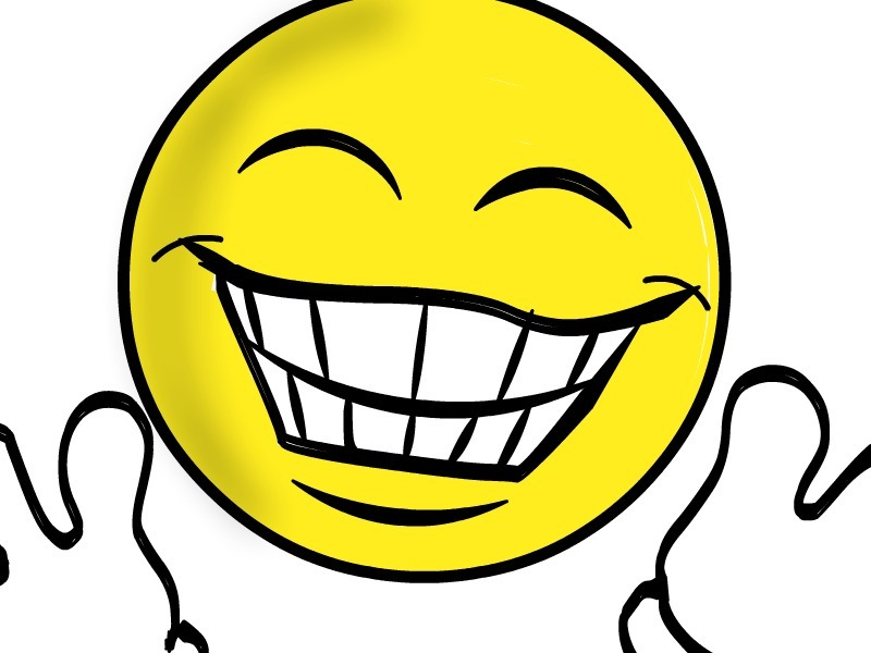 Excited clipart face.