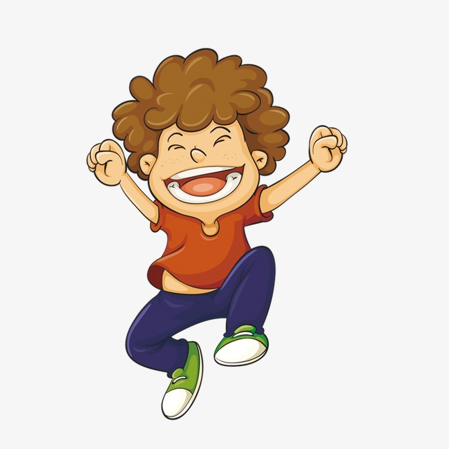 Excited Boy Clipart.