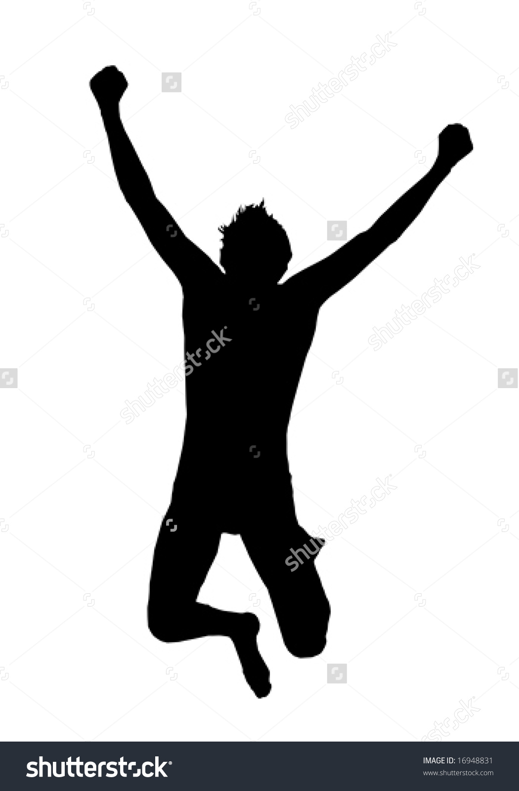 Excited People Jumping Clipart.