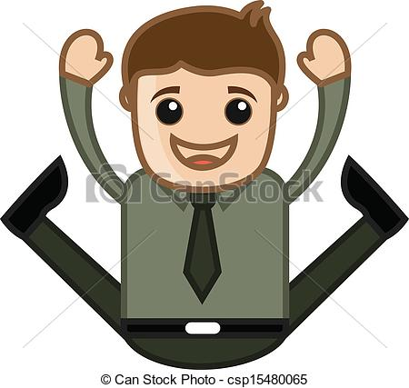 Free Clipart Of A Very Excited Man.