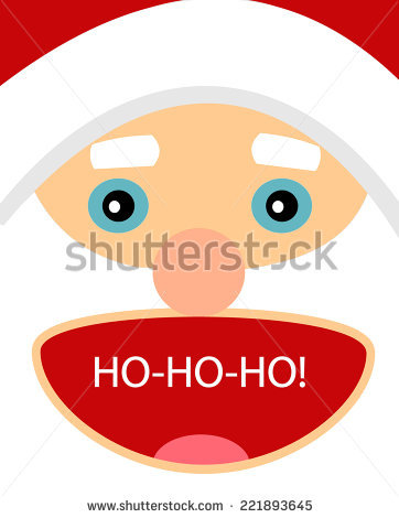 Excited Santa Claus Character Open Mouth Stock Vector 221893645.