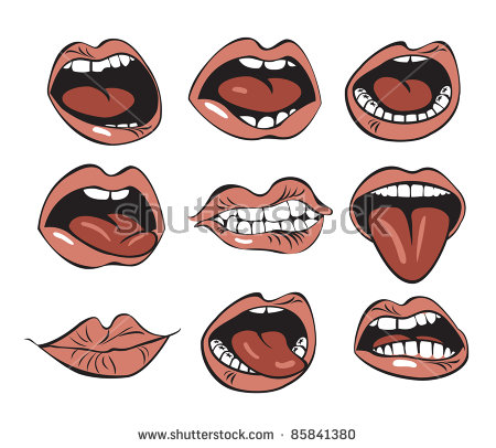 Screaming Mouth Stock Images, Royalty.