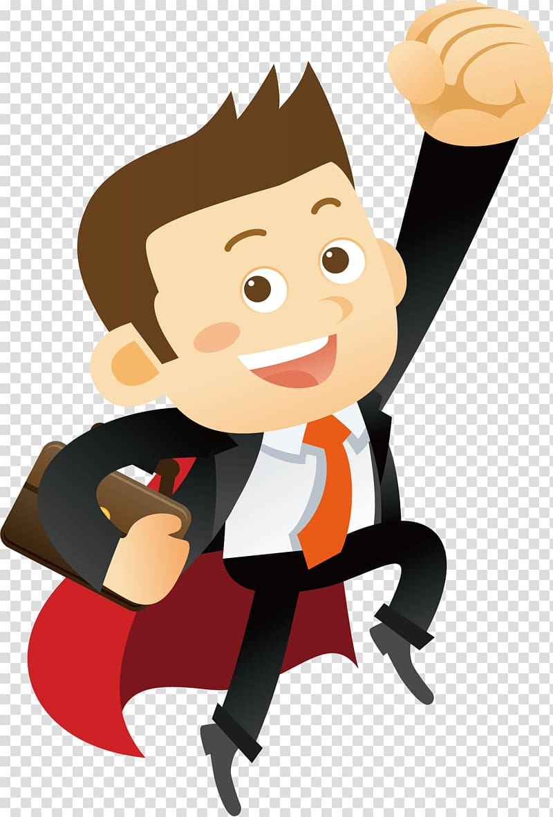 Cartoon Illustration, Excited people transparent background.