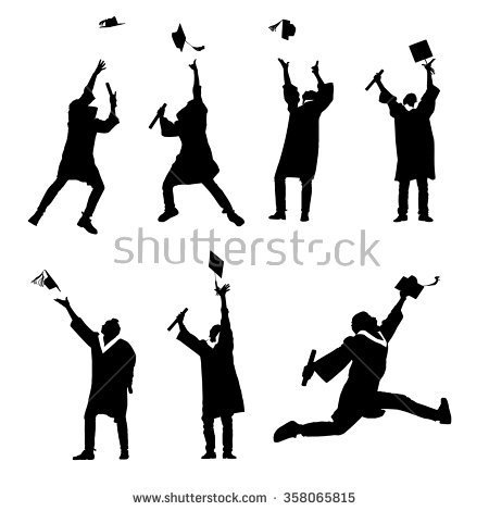 Excited Student Clipart.