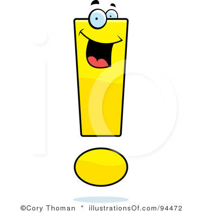 Exclamation point clipart free.