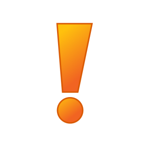 Exclamation mark clip art.