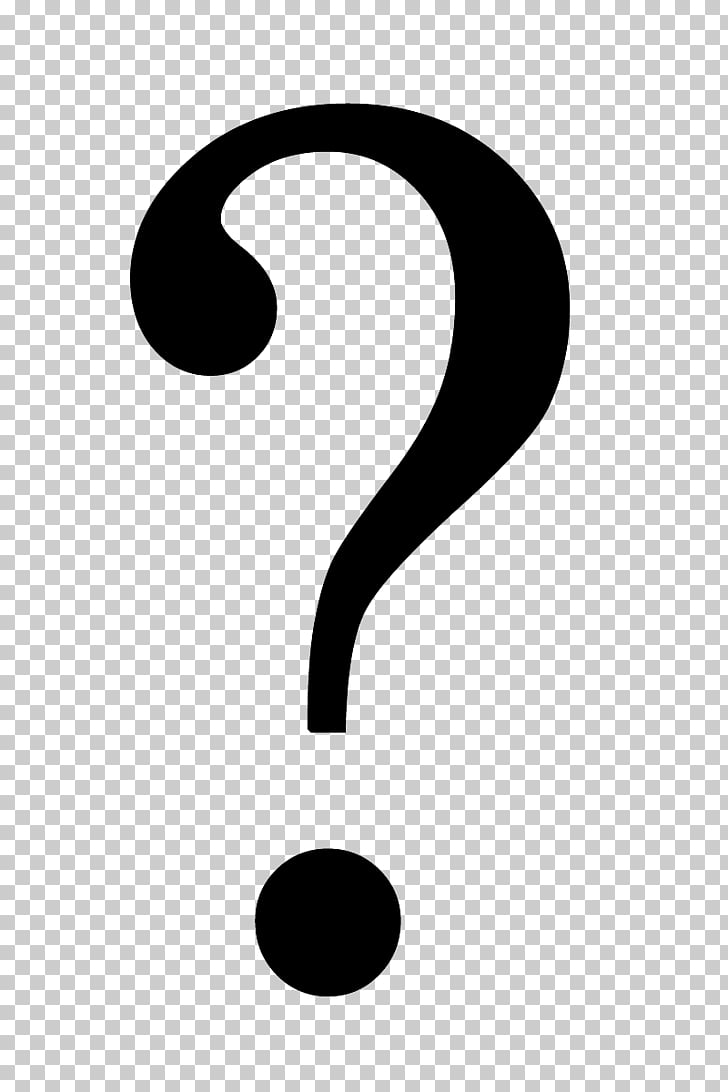 Brand Black and white Pattern, Question mark PNG clipart.
