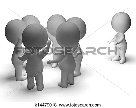 Stock Illustration of Excluded From Group 3d Character Shows.