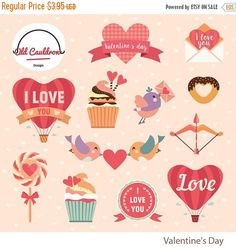 Patches Bear Valentine 2017 Clipart and Template Bundle EXCLUSIV.