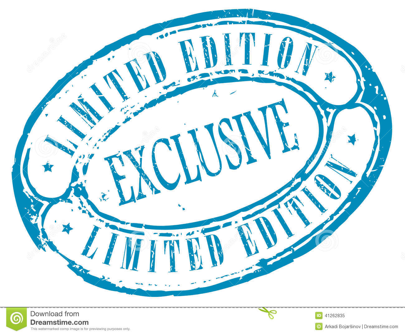 Exclusive Limited Edition Stamp Stock Vector.
