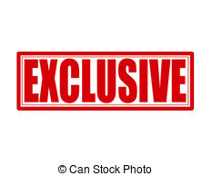 Clipart Vector of Exclusive.