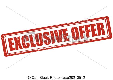 Vector Clip Art of Exclusive offer.