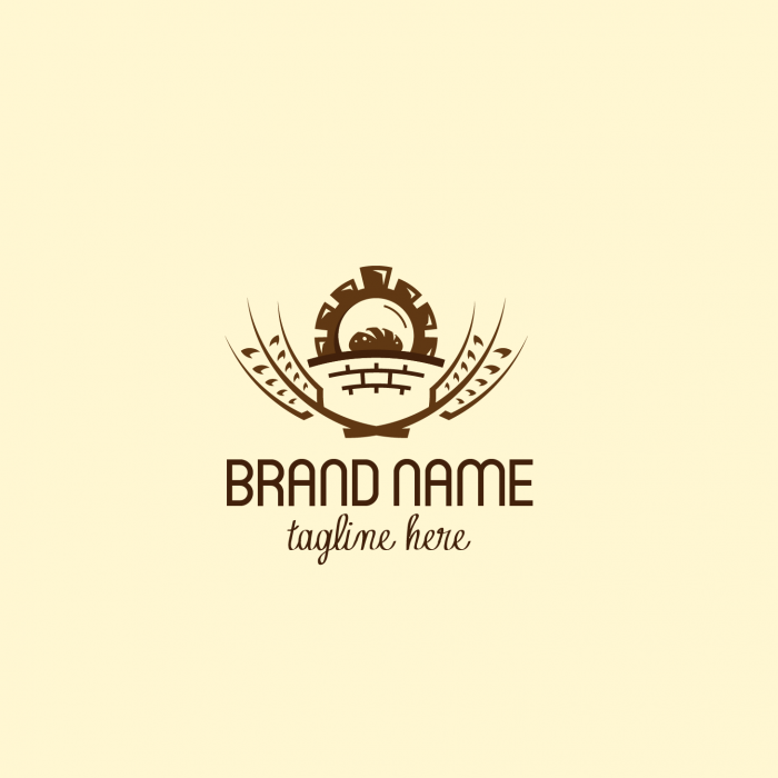 Vintage Bakery Exclusive Logo Design.