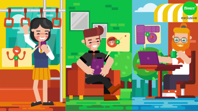 create an awesome animated explainer video.