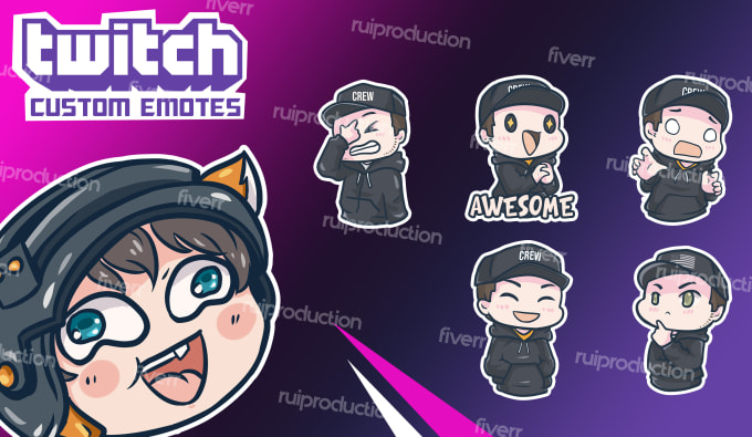 create exclusive twitch emotes for your channel.