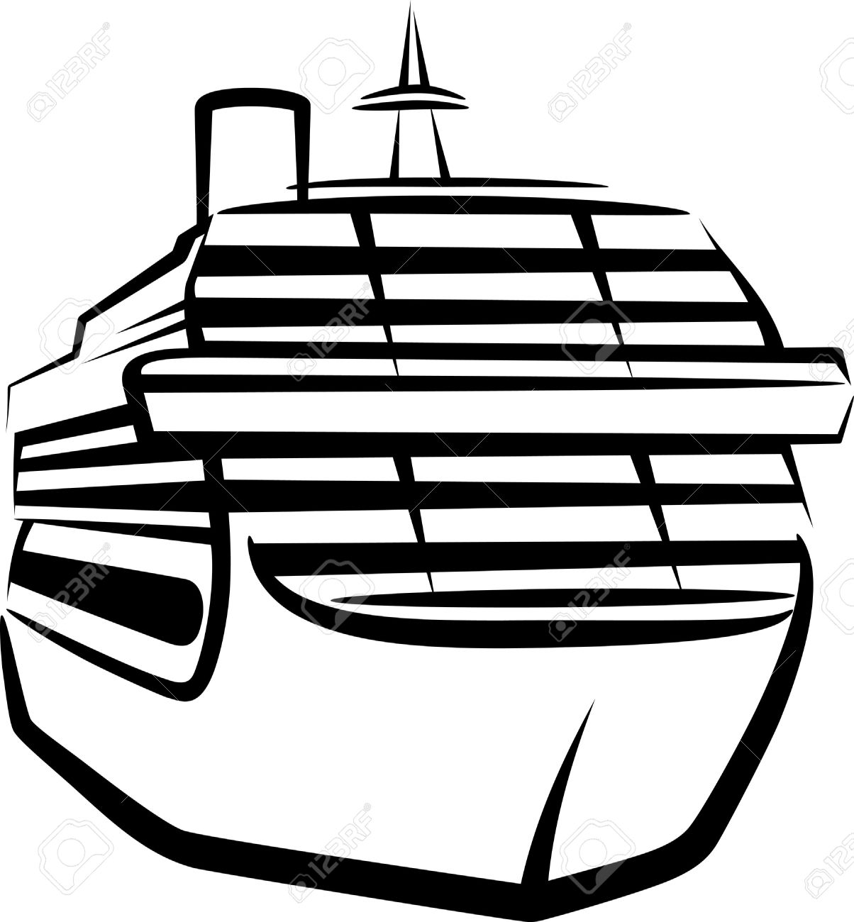 Simple Illustration With A Ship Royalty Free Cliparts, Vectors.
