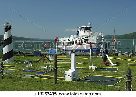 Stock Image of Watkins Glen, NY, New York, Finger Lakes, Seneca.