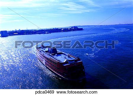 Stock Photograph of excursion ship, New York, boat, ship, Hudson.
