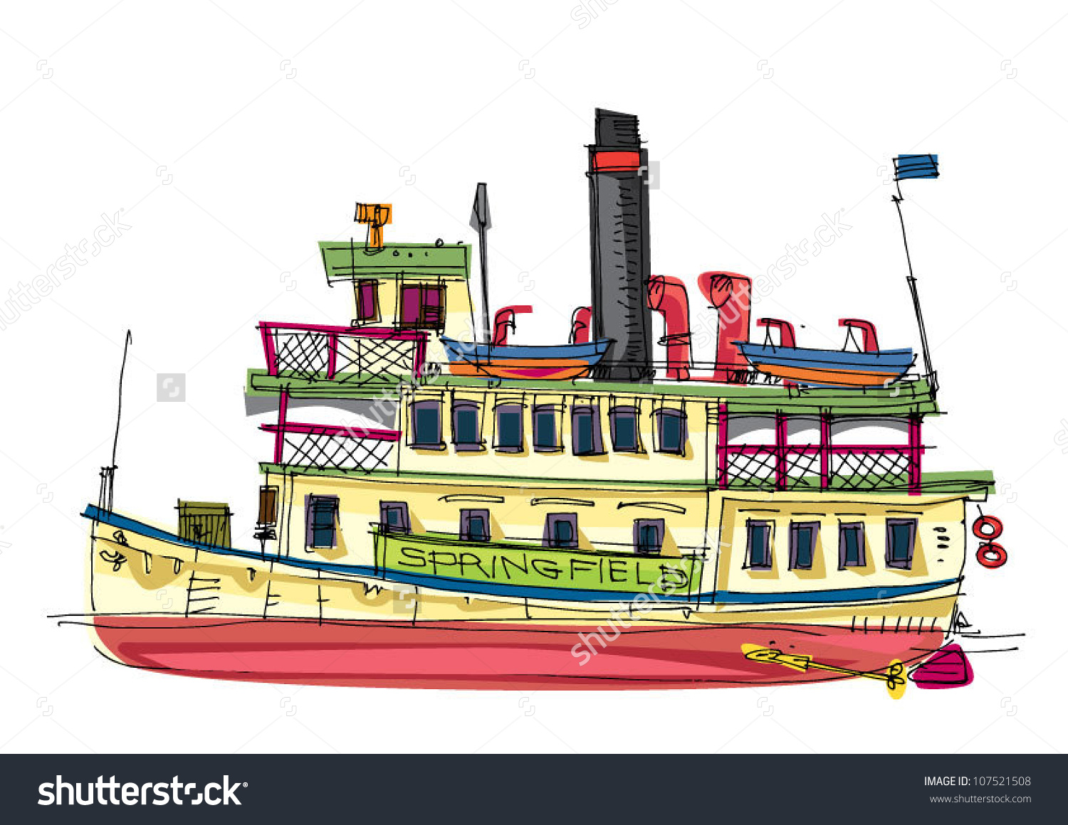 Steamer Cartoon Stock Vector 107521508.