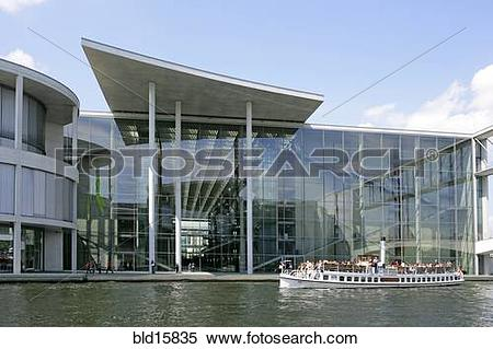 Stock Image of Germany, Berlin, excursion steamer before Paul.