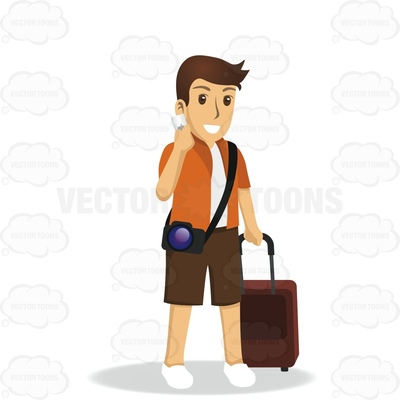 excursionist Cartoon Clipart.
