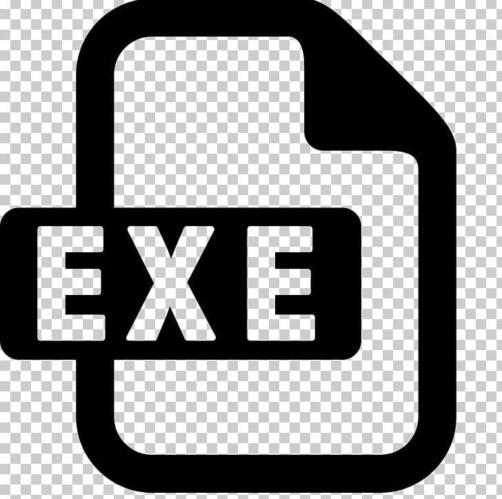 exe Computer Icons Executable PNG, Clipart, Area, Black And.