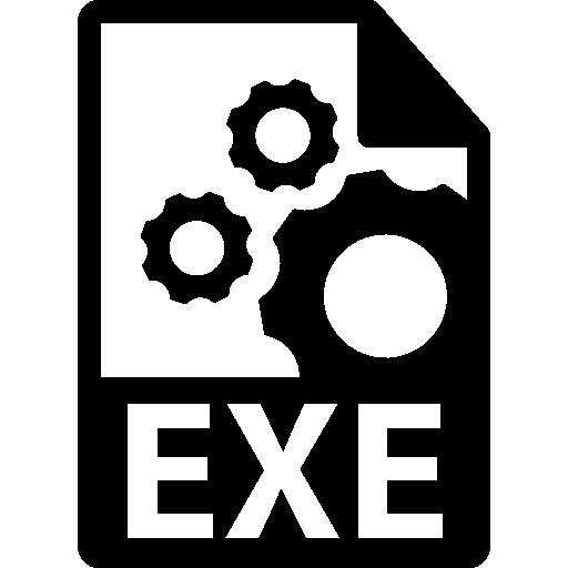 EXE file format symbol.