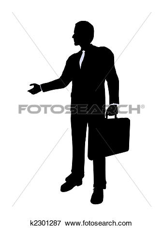 Stock Illustration of Business Office Illustration Silhouette.