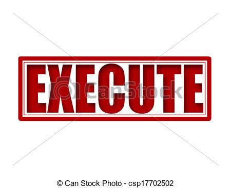 Vector Clipart of Execute.