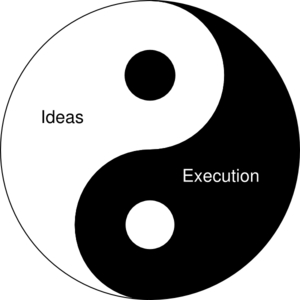 Startup Yin And Yang: Ideas And Execution Clip Art at Clker.com.