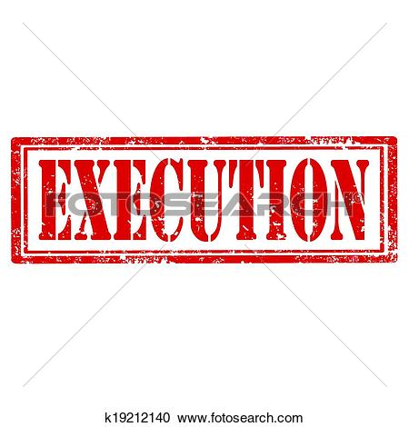 Clipart of Execution.