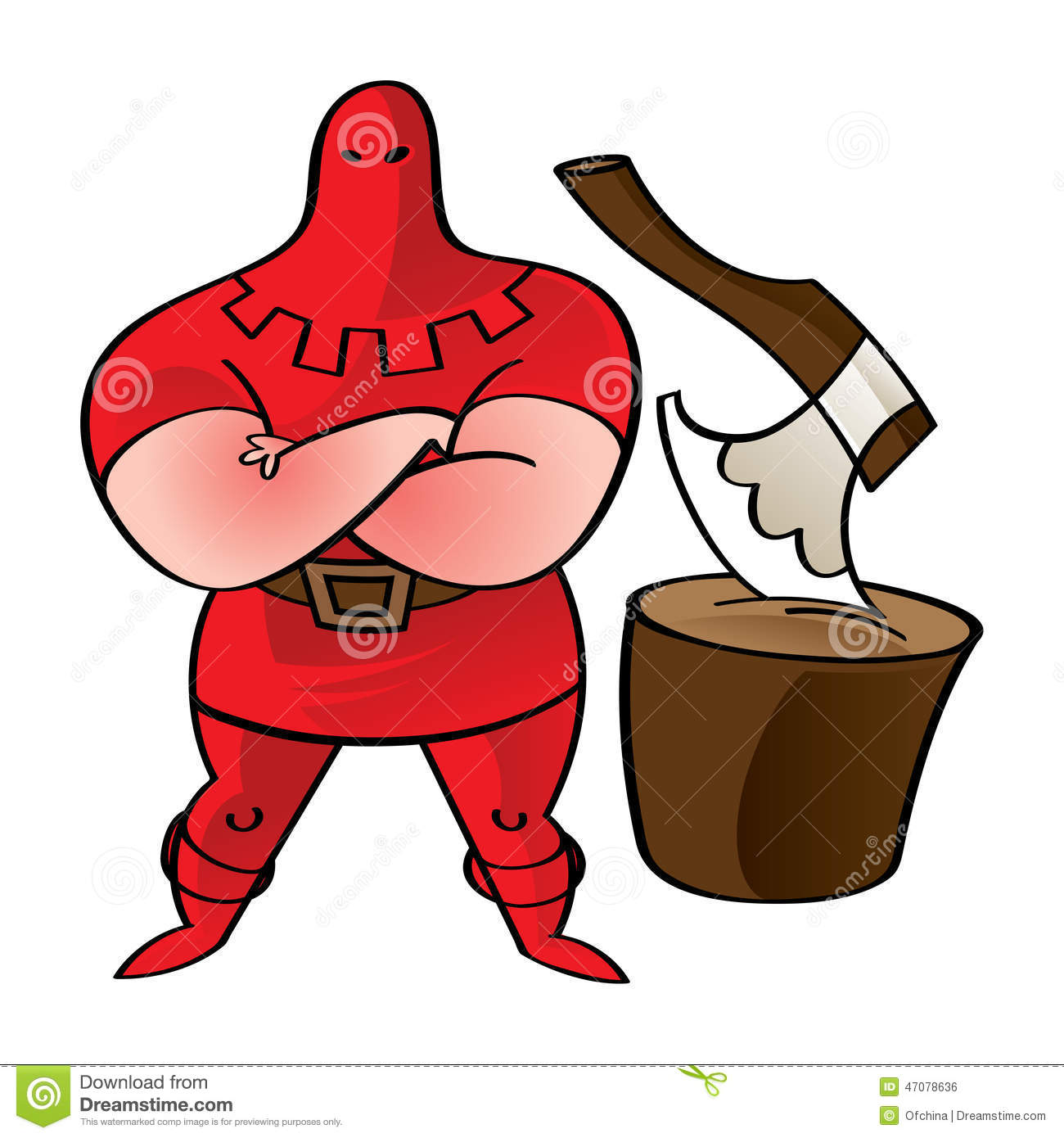 Executioner Stock Vector.